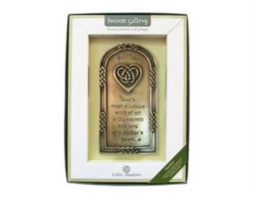 Mother's Blessing Bronze Plated Wall Plaque
